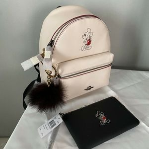 Coach Disney backpack with wristlet